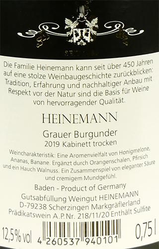 Weingut Heinemann Grauer Burgunder Kabinett trocken