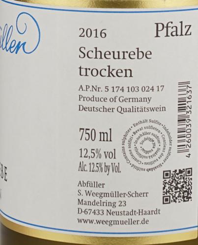 Weegmüller Scheurebe trocken