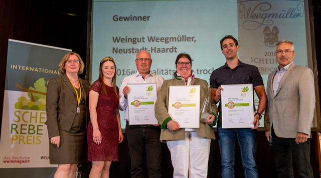 Weingut Weegmüller - Beste Scheurebe beim 3. internationalen Scheurebe-Preis